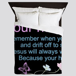 Personalize His Sheep Queen Duvet