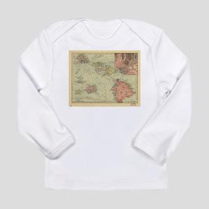 Vintage Map of Hawaii (1912) Long Sleeve T-Shirt