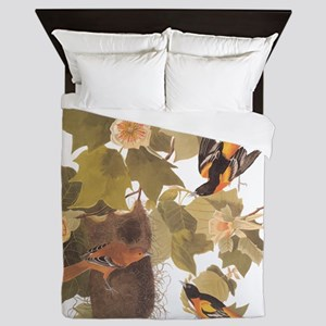 Baltimore Oriole Birds with Nest Audub Queen Duvet