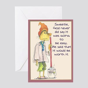 MAIDladyMESSAGEfrom GOD Greeting Cards