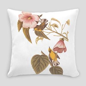Audubon Blue Winged Yellow Warbler Everyday Pillow