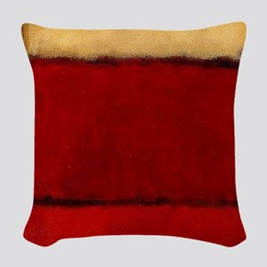 ROTHKO MAROON RED BEIGE Woven Throw Pillow