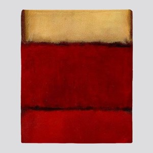 ROTHKO MAROON RED BEIGE Throw Blanket