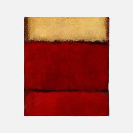 ROTHKO MAROON RED BEIGE Throw Blanket