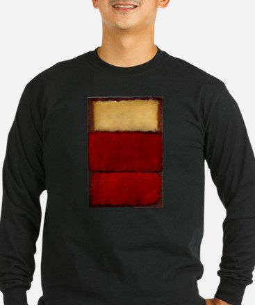 ROTHKO MAROON RED BEIGE Long Sleeve T-Shirt