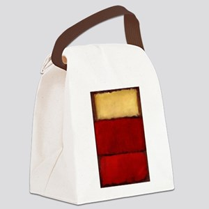 ROTHKO MAROON RED BEIGE Canvas Lunch Bag