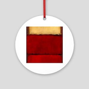 ROTHKO MAROON RED BEIGE Round Ornament
