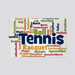 Tennis Word Cloud s Magnets