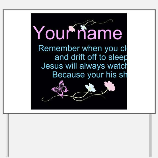 Personalize His Sheep Yard Sign