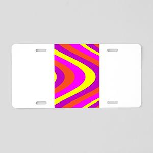 Fluid Karma Pink Yellow 4Er Aluminum License Plate