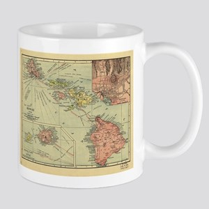 Vintage Map of Hawaii (1912) Mugs