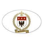 JEANSONNE Family Crest Oval Sticker