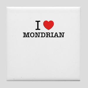 I Love MONDRIAN Tile Coaster