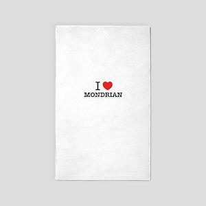 I Love MONDRIAN Area Rug