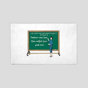 Personalize Teacher Area Rug
