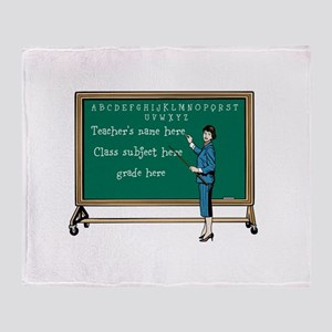 Personalize Teacher Throw Blanket