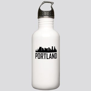 Skyline of Portland OR Water Bottle