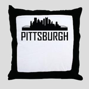 Skyline of Pittsburgh PA Throw Pillow