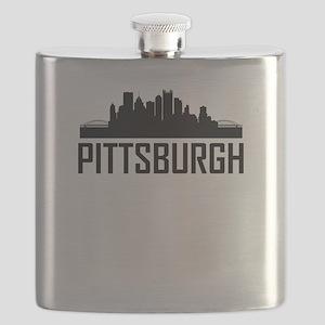 Skyline of Pittsburgh PA Flask
