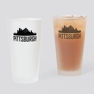 Skyline of Pittsburgh PA Drinking Glass