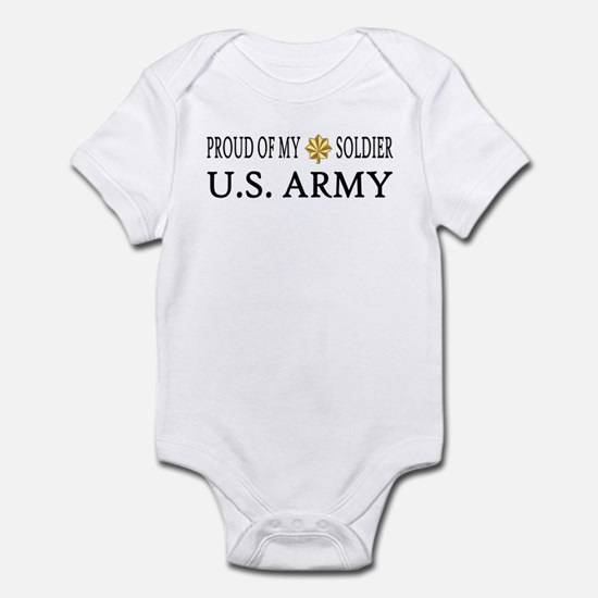MAJ - Proud of my soldier Infant Creeper