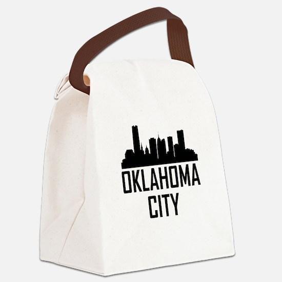 Skyline of Oklahoma City OK Canvas Lunch Bag