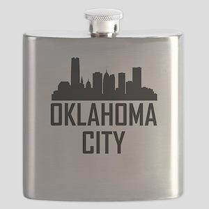 Skyline of Oklahoma City OK Flask