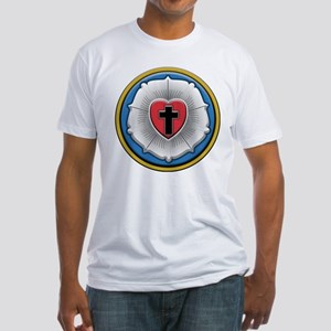 Lutheran Rose Fitted T-Shirt