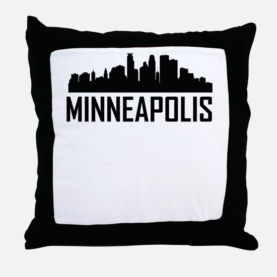 Skyline of Minneapolis MN Throw Pillow