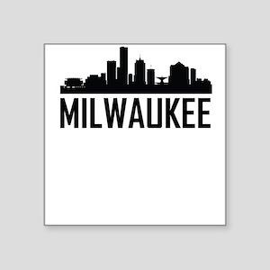 Skyline of Milwaukee WI Sticker