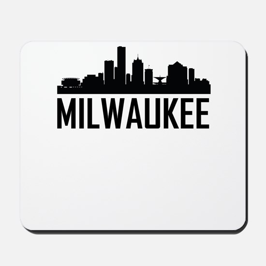 Skyline of Milwaukee WI Mousepad