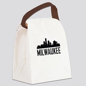 Skyline of Milwaukee WI Canvas Lunch Bag