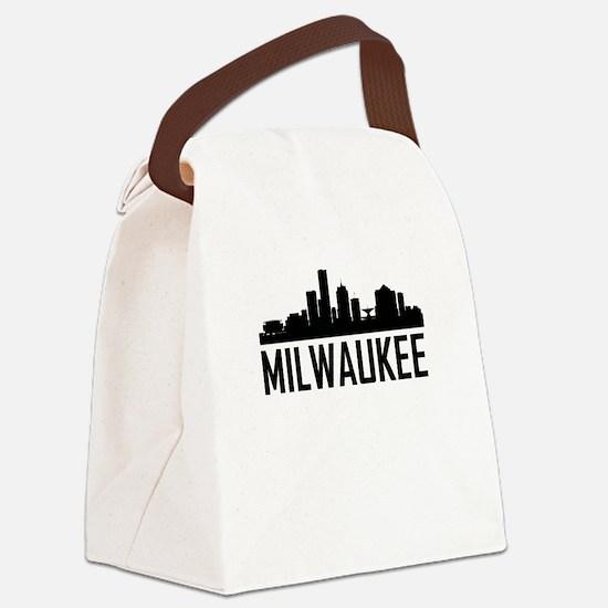 Skyline of Milwaukee WI Canvas Lunch Bag