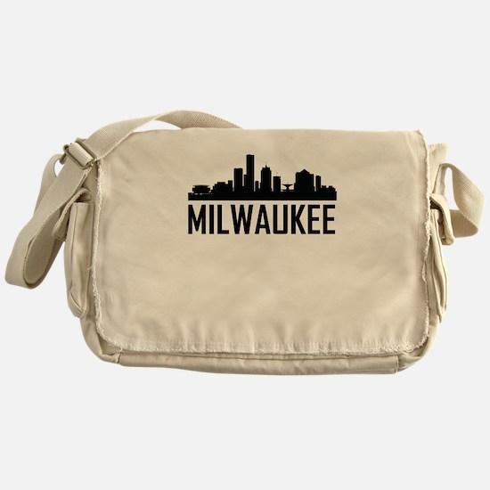 Skyline of Milwaukee WI Messenger Bag