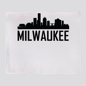 Skyline of Milwaukee WI Throw Blanket