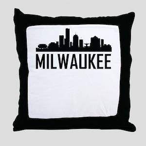 Skyline of Milwaukee WI Throw Pillow