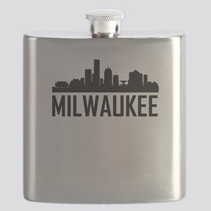 Skyline of Milwaukee WI Flask