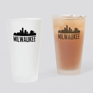 Skyline of Milwaukee WI Drinking Glass