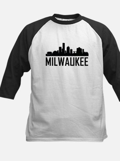 Skyline of Milwaukee WI Baseball Jersey