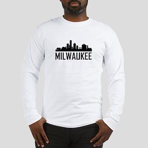 Skyline of Milwaukee WI Long Sleeve T-Shirt