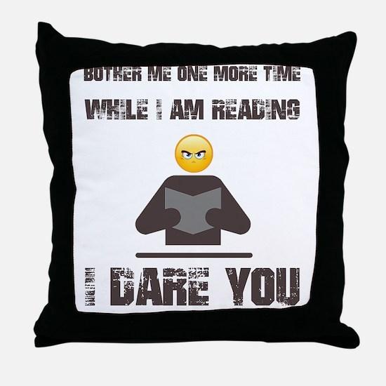 Cute Reader Throw Pillow