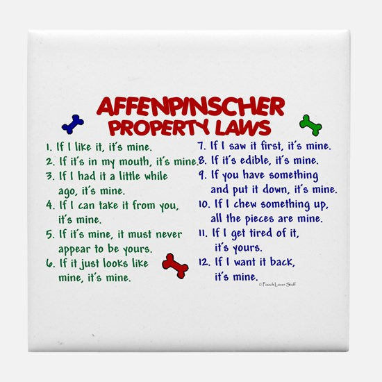 Affenpinscher Property Laws Tile Coaster