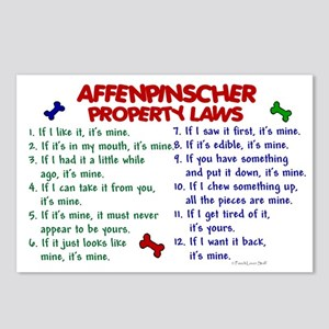 Affenpinscher Property Laws Postcards (Package of