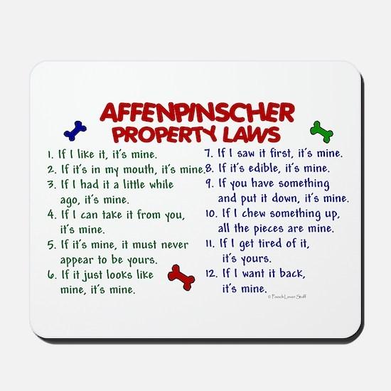 Affenpinscher Property Laws Mousepad