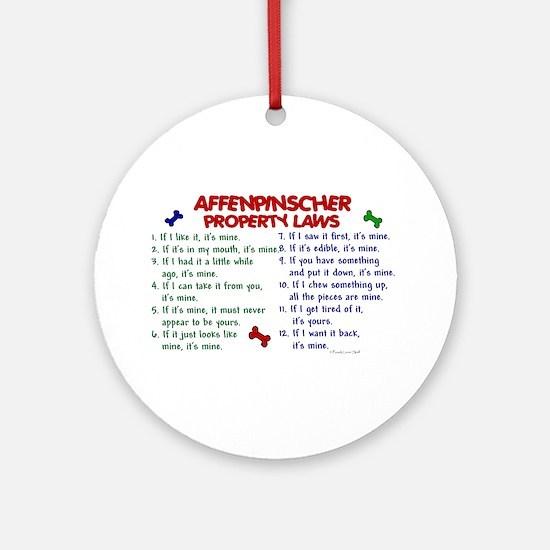 Affenpinscher Property Laws Ornament (Round)