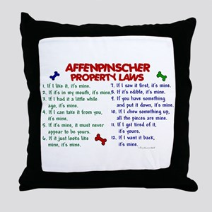 Affenpinscher Property Laws Throw Pillow
