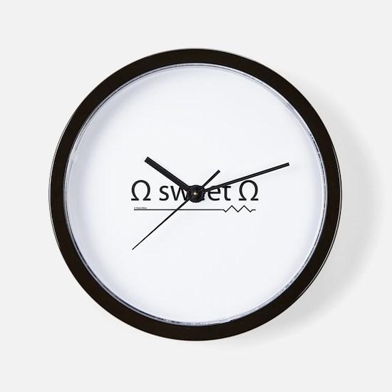 Unique Ohm Wall Clock