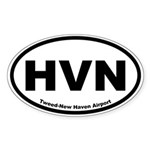 Tweed-New Haven Airport Oval Sticker