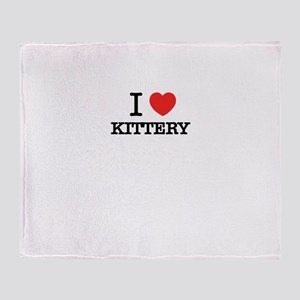 I Love KITTERY Throw Blanket
