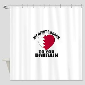 My Heart Belongs To You Bahrain Cou Shower Curtain